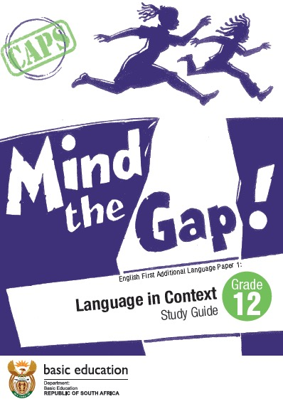 mind the gap language in context grade 12