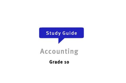 Accounting Grade 10 Free Study Guides
