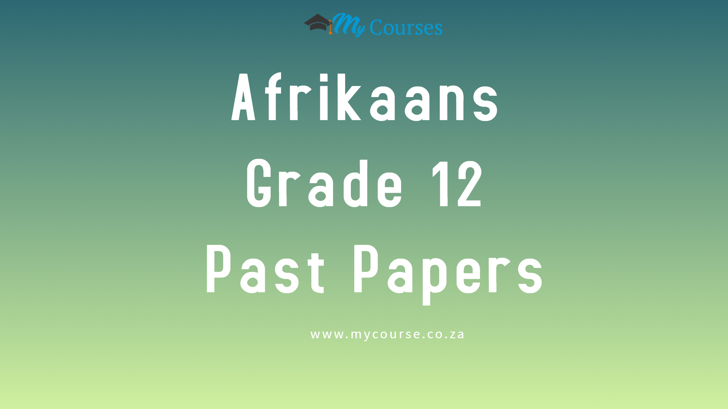 Afrikaans First Additional Language For 2020 And 2019 My Courses